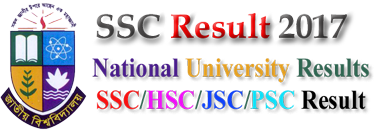 SSC Result 2017 with eBoardresults and National University Result BD