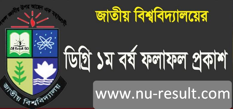 National University Degree 1st Year Exam Result 2017