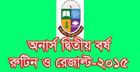 Nu.edu.bd/results sms Honors 2nd Year Result 2015